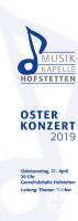 Musikkapelle Hofstetten Plakat Osterkonzert