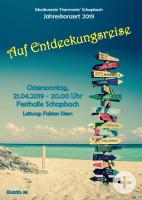 """Musikverein """"Harmonie"""" Schapbach Plakat Jahreskonzert"""