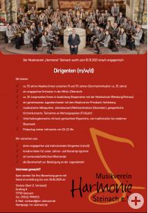 Musikverein-Harmonie-Steinach-Stellenanzeige-Dirigent