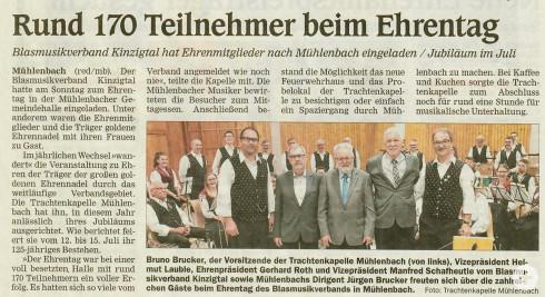 2019 Ehrentag in Mühlenbach