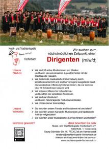 Trachtenkapelle Fischerbach Dirigentensuche